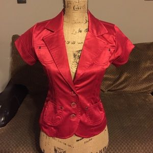 26 International Jackets & Blazers - Satin Red jacket size Med.