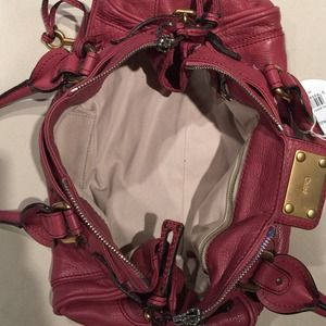 Chloe berry leather paddington medium satchel bag
