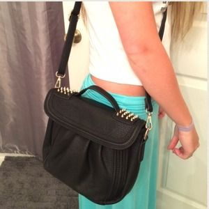 Black satchel cross body.