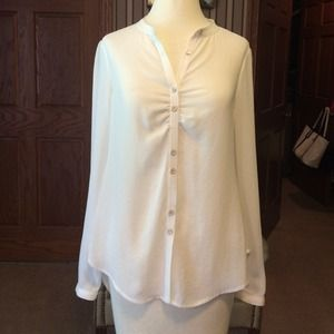 Yoana Baraschi white blouse with cut outs in back!