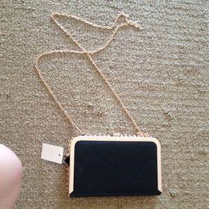 Brand new black purse with tag
