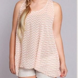 Peach Chevron Tank