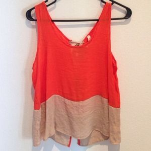Tops - Open back tank with bow ties