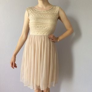 Ivory lace and tulle Ballarina-inspired dress