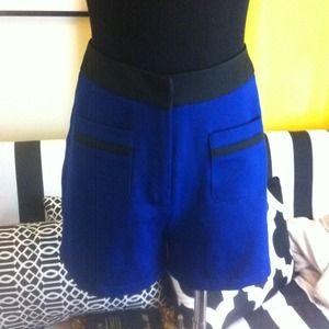 Pants - High waist tuxedo Blue Shorts