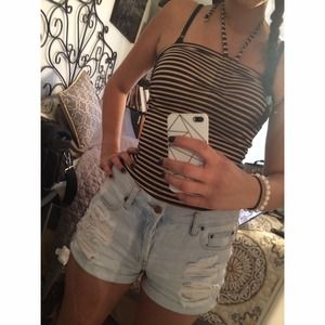 H&M Tops - strap stripped halter top from H&M
