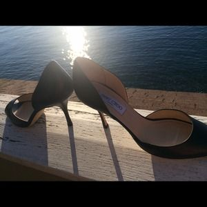 Jimmy choo authentic 39.5 black leather heels
