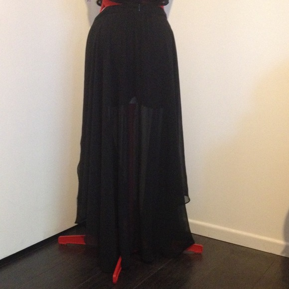 Long black skirt with slits on both sides Medium from Ruby's ...
