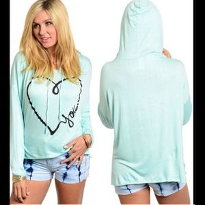 Tops - SOLD OUT💗MINT LOVE SWEATSHIRT!💗