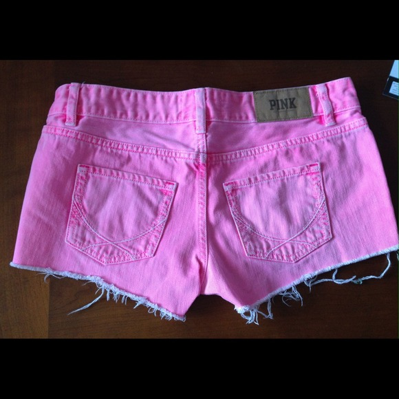 71% off PINK Victoria's Secret Denim - VS PINK Neon pink denim ...