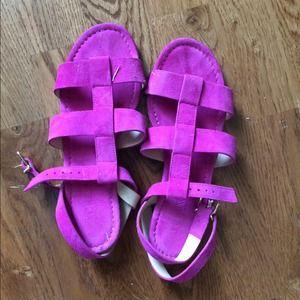 J.crew sandals. Worn a few times. Italian leather