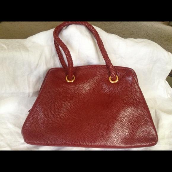b661cd407708 Desmo Italian Red Leather vintage purse! NWT   bag