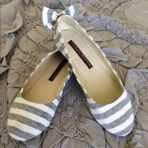 Anthropologie Shoes - BUNDLED Anthro Chocolate Schubar Gray Striped Flat