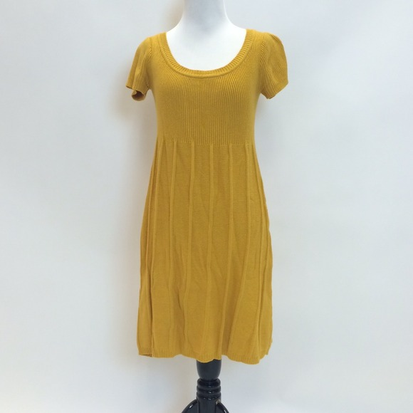 SOLD in bundle // Mustard Yellow Sweater Dress M from Emily's ...