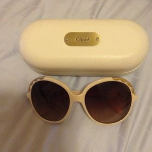 Authentic Chloe Ernie ivory sunglasses