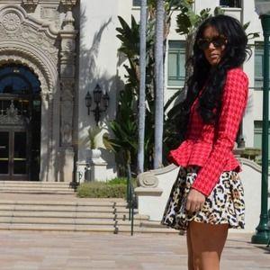 Motel Rocks Leopard Print Skater Skirt