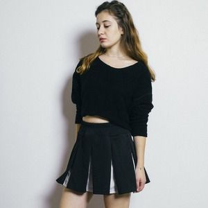American Apparel Tops - Black Crop Sweater
