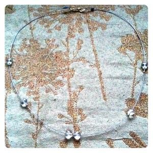 lucy6mahon Jewelry - blue necklace with crystal hearts