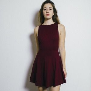 American Apparel Dresses & Skirts - eggplant skater dress