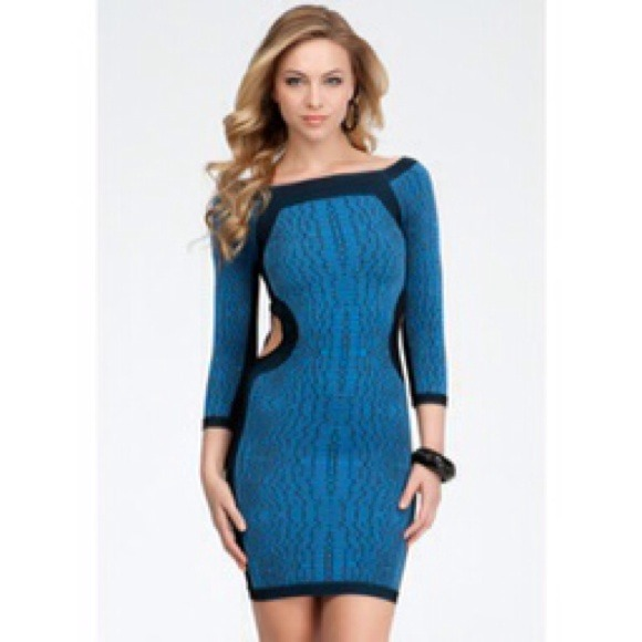 80% off bebe Dresses & Skirts - 🔹REDUCED🔹Bebe bodycon side cut out dress HOT 🔥 from Jill's ...