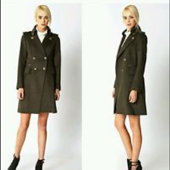 38% off Forever 21 Outerwear - (sold) Army green wool-blend ...