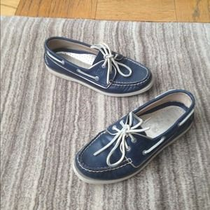 Sperry Navy A/O 2-Eye Top Sider Boat Shoes, 7