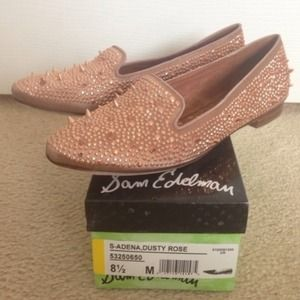 Sam Edelman rose gold adena loafers 8.5