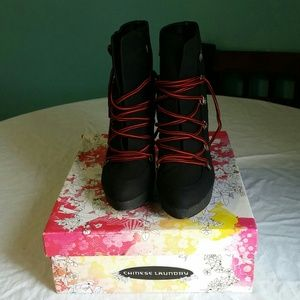 Brand new sexy laced up shoe boots 8.5