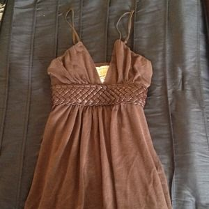 Brown top with braid detailing