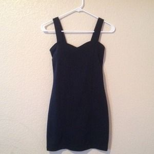 Black bodycon dress with caged back