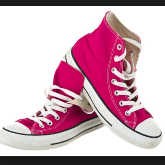 456edc15ca3 Converse Shoes - Hot pink high top Converse- size 9
