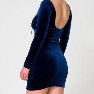 ☀️Velvet Long Sleeve Mini Dress