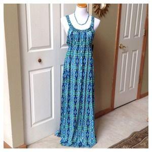 Turquoise Multi Maxi Dress