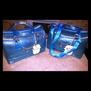 Large blue jelly bags