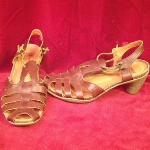 Camper Shoes - Camper T-strap sandals.