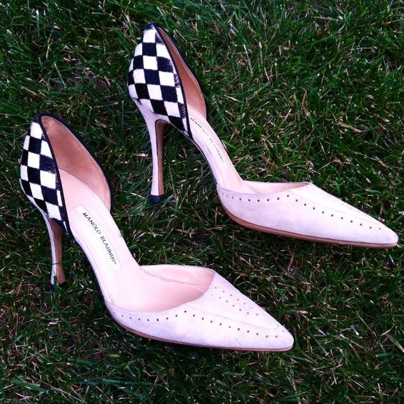 Manolo Blahnik scarpe  Checkerboard  Hp 93 Pony Hair Checkerboard  Pumps   Poshmark 78483c