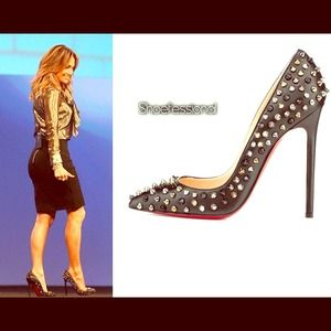 CHRISTIAN LOUBOUTIN Spikes multi studded pump