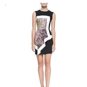 b40e961d8d4b8e BCBG Dresses - BCBGMAXAZRIA Alessandra Printed Colorblock Dress