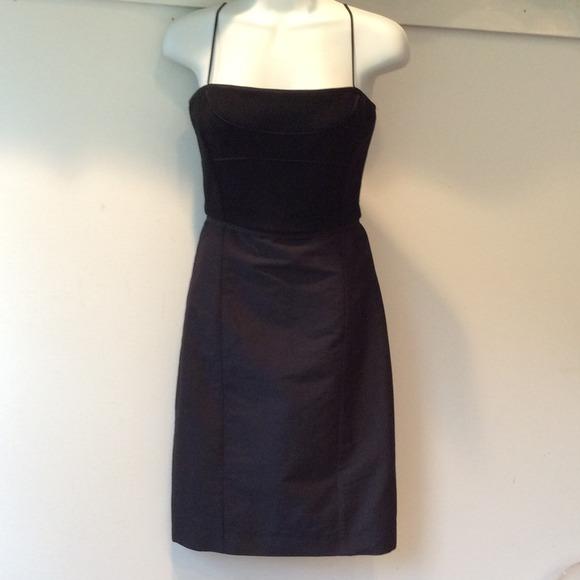 550bf259a1 Narciso Rodriguez blk wool spaghetti strap dress. M 53caa9664845e670a71cadde