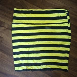 92% off Dresses & Skirts - Yellow striped skirt from J.'s closet ...