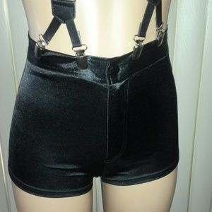 High waisted Satin Shorts