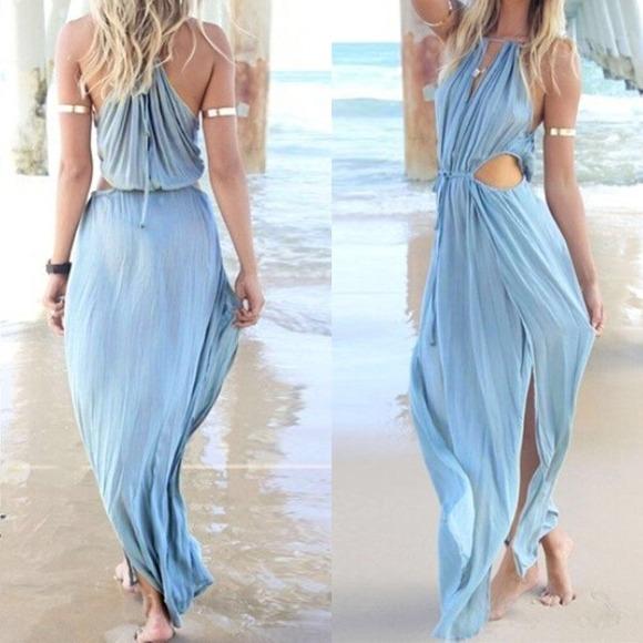 Images of Pastel Maxi Dress - Reikian