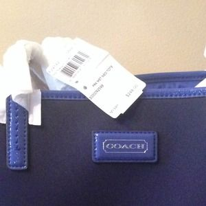 932ccb13bb Coach Bags - Navy Blue Large Tote Coach Bag!〽️Price Lowered!