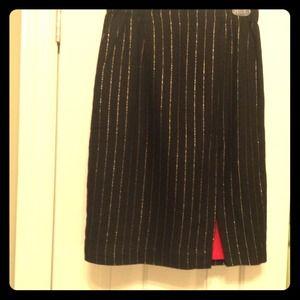 Last days of 54 Vintage 80s skirt. Black w/ gold