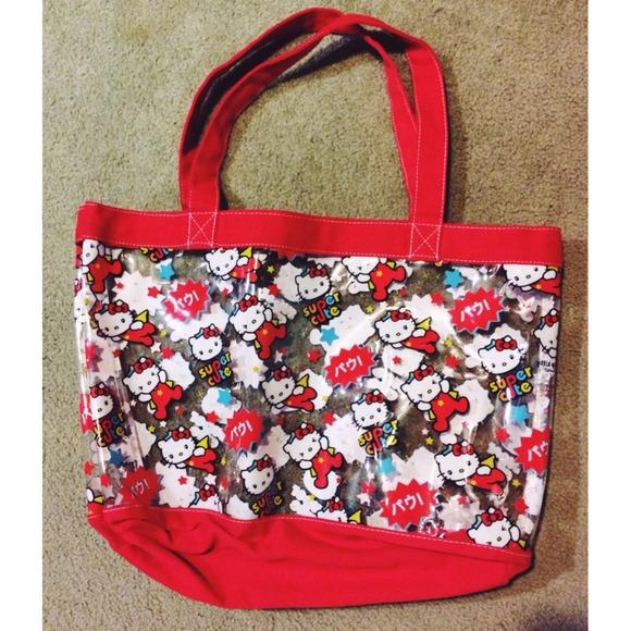 9a82dbffb1ce Hello Kitty Handbags - Hello Kitty Clear Tote Bag