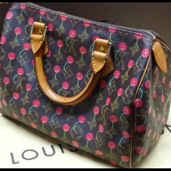 47ddc75486a08f Louis Vuitton Handbags - Louis Vuitton Monogram Cherry Cerise Speedy 25
