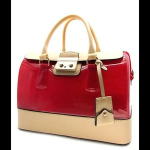 Handbags - Luxurious Red Jelly Bag