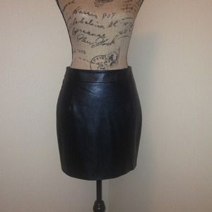 Sugar Lips Dresses & Skirts - Sugar lips black faux leather skirt. NWT