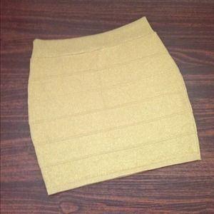 Dresses & Skirts - Gold Shimmer Mini Skirt