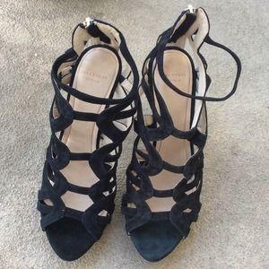 Zara Shoes - Zara black suede strappy heels
